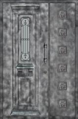 דלת וחצי לכניסה מעוצבת