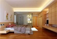חדר הורים עם פרקט מעץ דובדבן