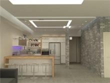 שיפוץ מטבח מודרני עם תאורה מיוחדת