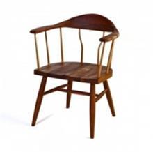 כסא חום מעץ מלא
