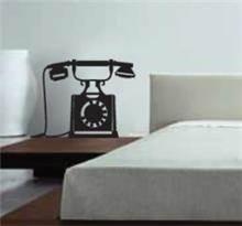 מדבקת קיר טלפון ישן