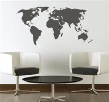 מדבקת קיר מפת העולם