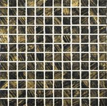 פסיפס שחור עם זהב
