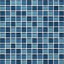 פסיפס זכוכית מיקס כחול
