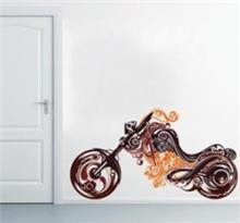 מדבקת קיר אופנוע קלאסי