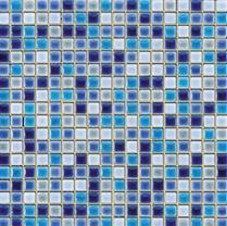 פסיפס משולב כחול ותכלת