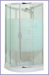 מקלחון זכוכית עגול או מרובע
