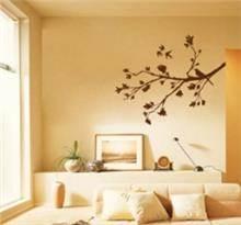 מדבקת קיר ענף וציפור נחה