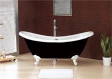 אמבטיה שחור לבן - חלמיש