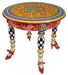 שולחן עגול צבעוני - חלמיש