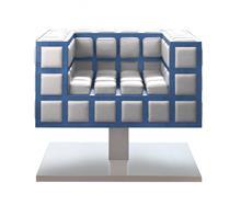 כורסא לבנה מעוצבת - חלמיש