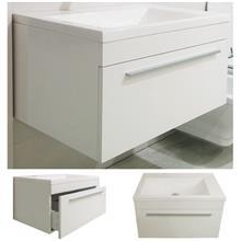 ארון אמבטיה לבן מבריק - חלמיש