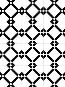 אריח גאומטרי שחור-לבן