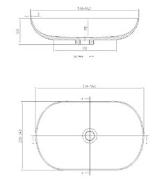 כיור אקרילי L540 - חלמיש