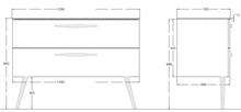 ארון 2 מגירות לבן  6267-1 - חלמיש