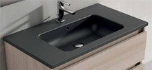 כיור שחור אבן דגם B6376-9 - חלמיש
