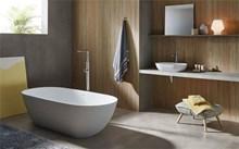 אמבטיה אובלית לבן מט - חלמיש