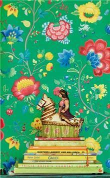 טפט בעיצוב פרחי פנטזיה - גולדשטיין גלרי טפט