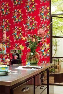 טפט פרחים באדום - גולדשטיין גלרי טפט