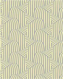 טפט פופ רטרו מניפות בגוון שמנת מוקה - גולדשטיין גלרי טפט