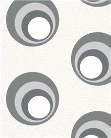 טפט עיגול בתוך עיגול אפור - גולדשטיין גלרי טפט