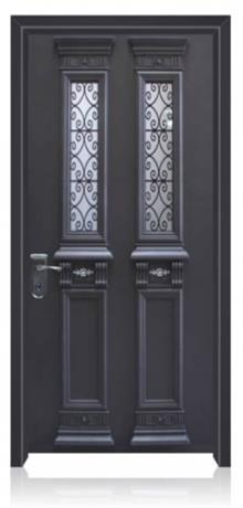 דלת פלדה עם 2 צוהרים
