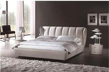 מיטת עור עם ראש מיטה מעוצב - היבואנים