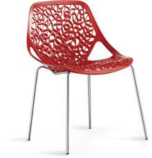 כיסא אדום מעוצב - היבואנים