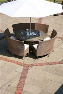 שולחן וכסאות ראטן לגינה - היבואנים