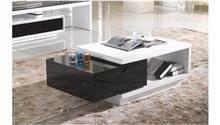 שולחן סלון מודרני בשחור לבן - היבואנים