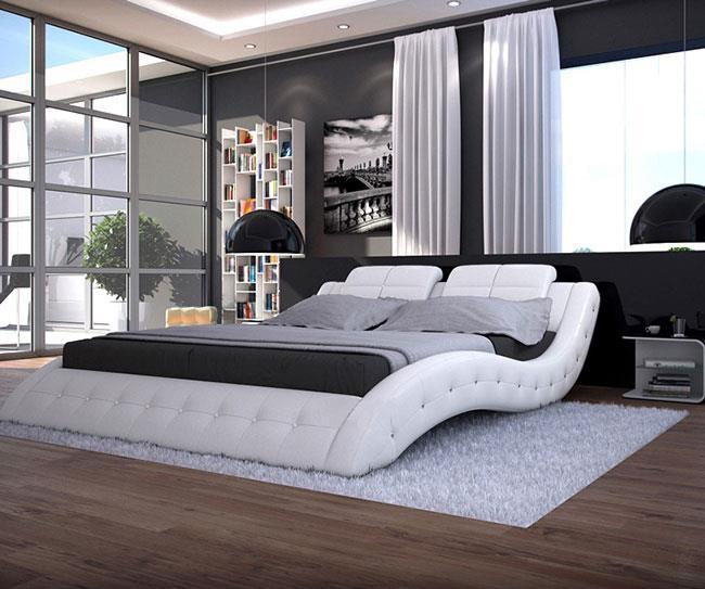 מיטה זוגית עור