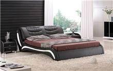 מיטת עור זוגית שחורה - היבואנים