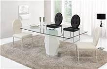 שולחן אוכל מזכוכית - היבואנים