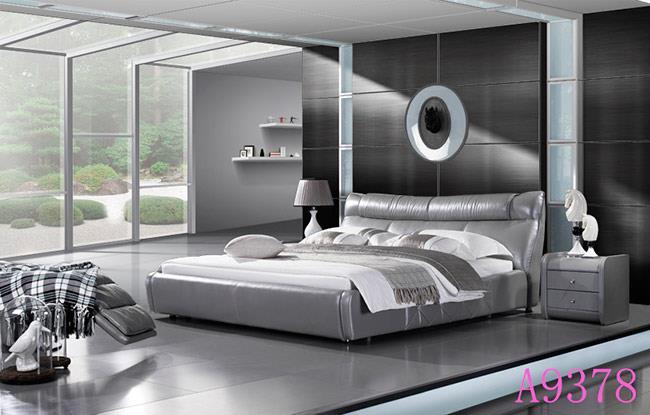 מיטה עור זוגית מפוארת