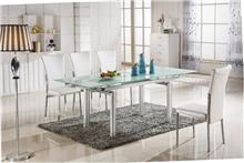 שולחן אוכל מברזל וזכוכית - היבואנים