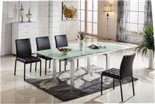 שולחן אוכל מזכוכית וברזל - היבואנים