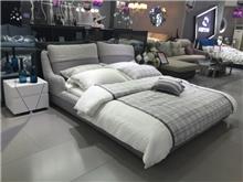 מיטה זוגית מרופדת אפורה - היבואנים