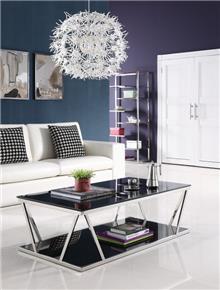 שולחן סלון שחור מסוגנן - היבואנים