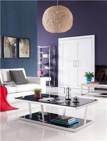 שולחן סלון מעוצב מזכוכית - היבואנים