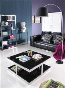 שולחן סלון מרובע שחור - היבואנים