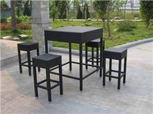 שולחן + 4 כיסאות ראטן - היבואנים
