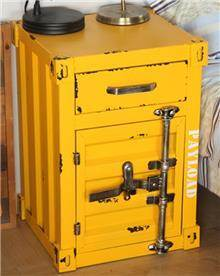 ארגז מעוצב בצבע צהוב