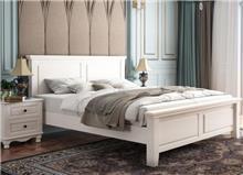מיטה קלאסית מעץ בצבע  לבן - 811 - היבואנים