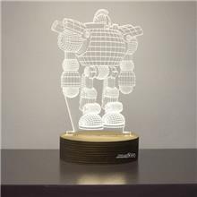 מנורת גביש - רובוט - שקע ותקע