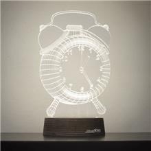מנורת גביש - שעון - שקע ותקע