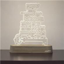 מנורת גביש - ברכת העסק - שקע ותקע