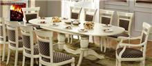 שולחן אוכל אובאלי - רהיטי מוביליה
