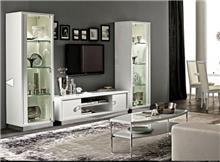 מזנון לבן לסלון - רהיטי מוביליה