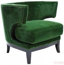 כורסא ירוקה מעוצבת