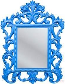 מראה מסגרת כחולה